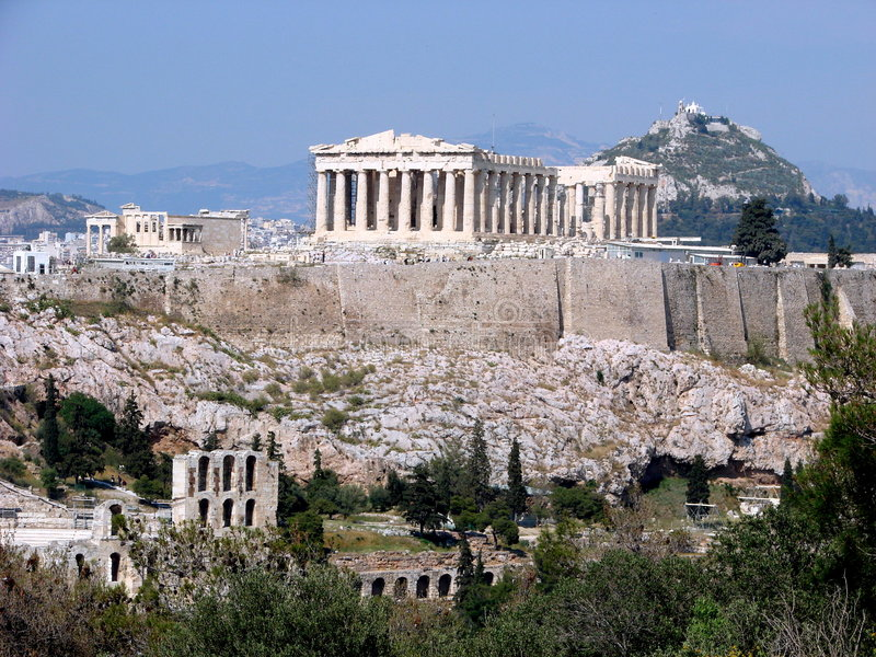 El Parthenon, Atenas imagenes de archivo