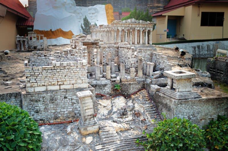 El Parthenon en Mini Siam Park fotografía de archivo libre de regalías
