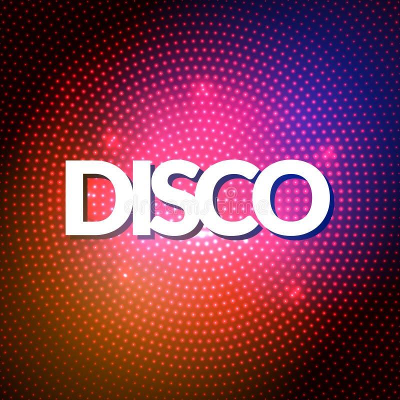 El partido de disco enciende el fondo del oro Fondo caliente de la danza Vector de la sala de baile Sala de baile del disco Carte libre illustration