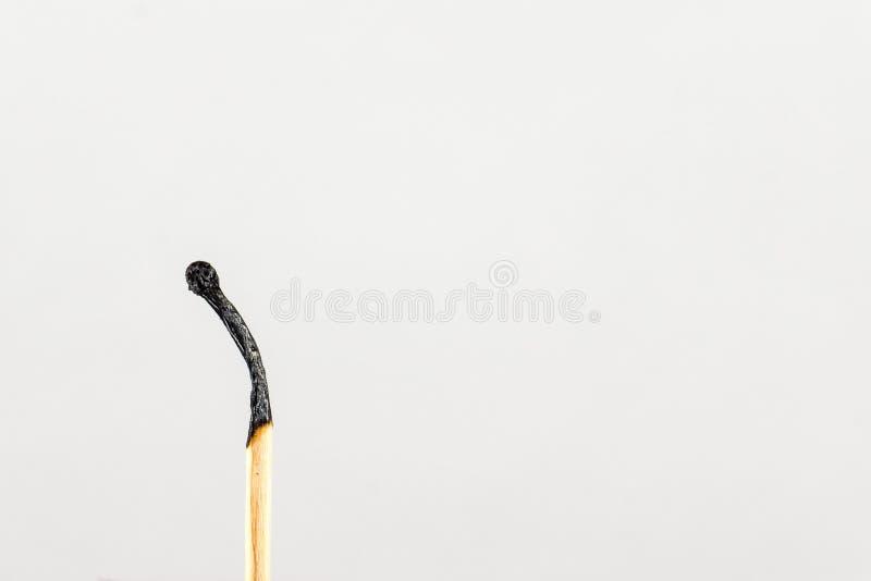 El partido quemado-abajo Símbolo del transience del tiempo imagen de archivo libre de regalías