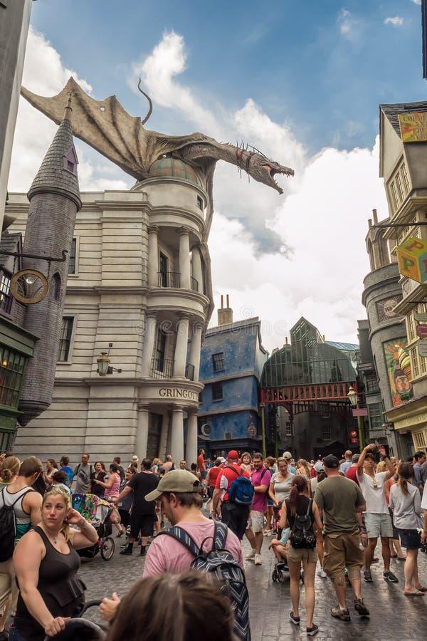 El paseo de Harry Potter en los estudios universales la Florida imágenes de archivo libres de regalías