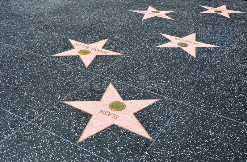 El paseo de Hollywood de la fama en Los Angeles fotografía de archivo libre de regalías