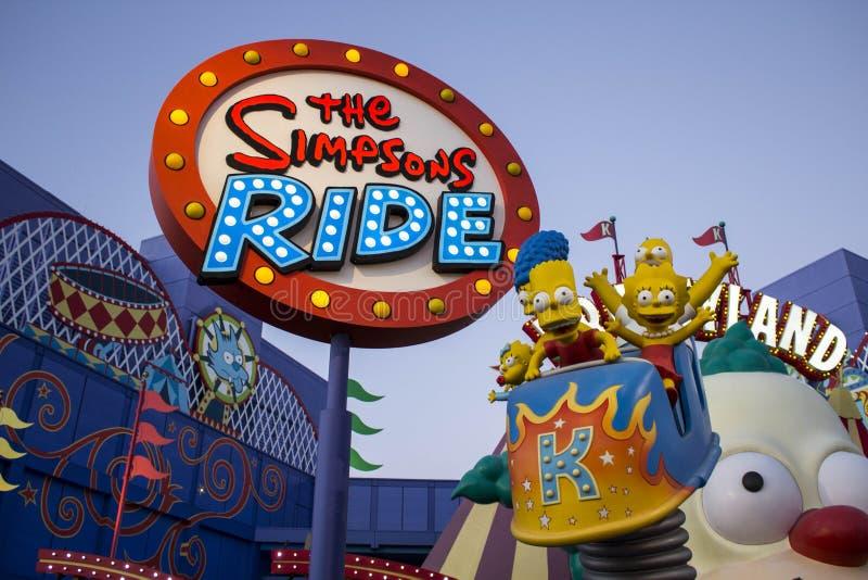 El paseo de Simpsons imagen de archivo