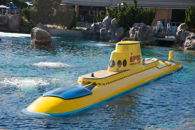 El paseo submarino de Disneyland fotografía de archivo libre de regalías