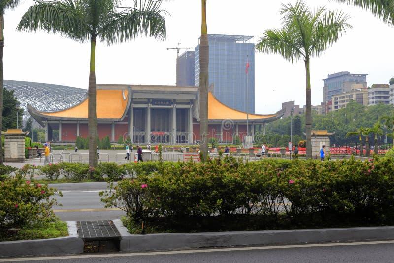 El pasillo conmemorativo de Sun Yat-sen del fundador en la ciudad de Taipei imagenes de archivo