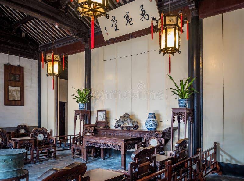 El Pasillo de 10000 volúmenes, Suzhou, China fotos de archivo