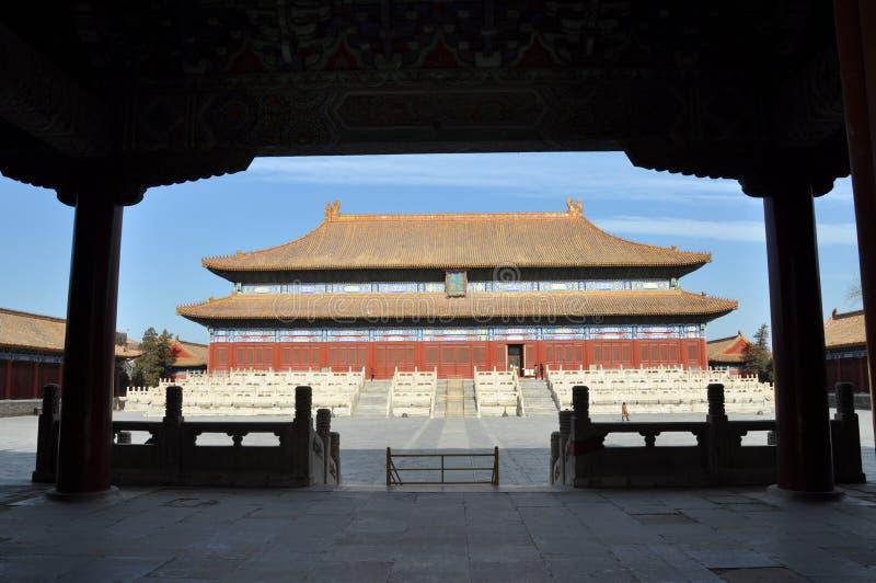 El pasillo para adorar los emperadores y a las emperatrices de Qing imagen de archivo libre de regalías