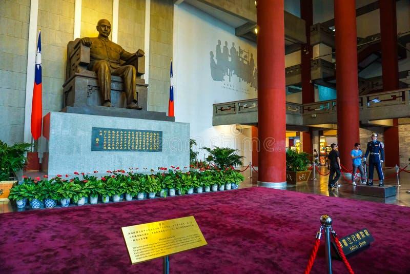 El pasillo principal de Sun Yat-sen Memorial Hall en la ciudad de Taipei, Taiwán imagenes de archivo