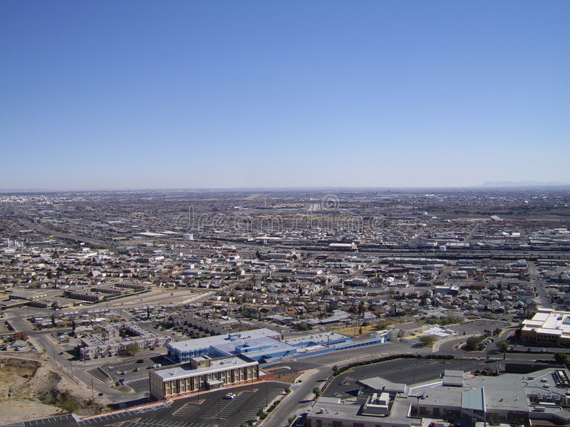 El Paso from above royalty free stock photos