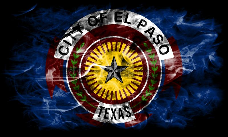 El Paso city smoke flag, Texas State, United States Of America.  royalty free stock photos