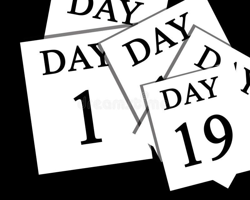 El paso de días ilustración del vector