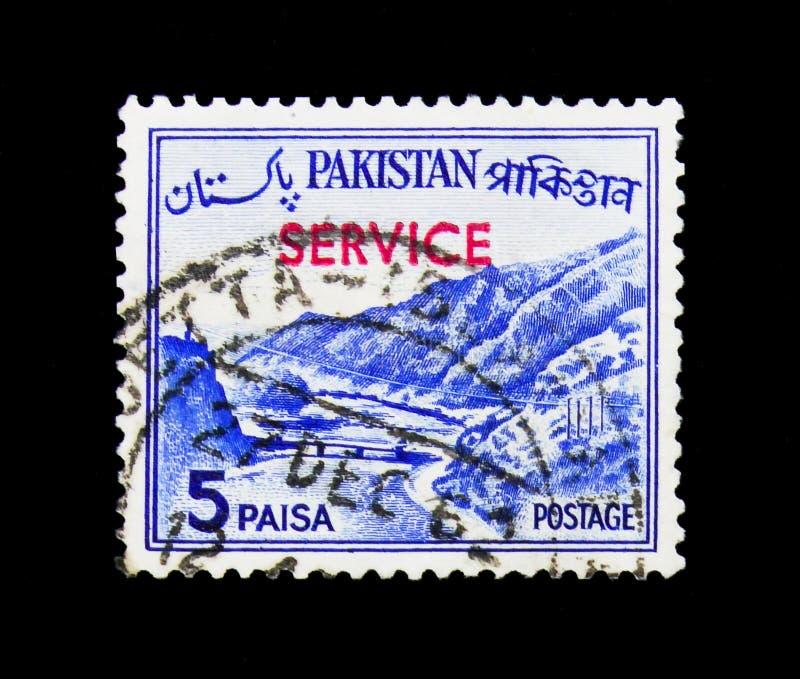 El paso de Khyber, país ve el serie, circa 1963 foto de archivo libre de regalías