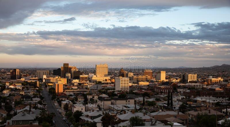 El Paso do centro, Texas imagem de stock