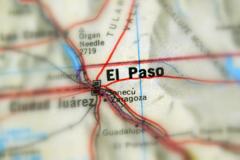 El Paso, eine Stadt im U S lizenzfreie stockbilder