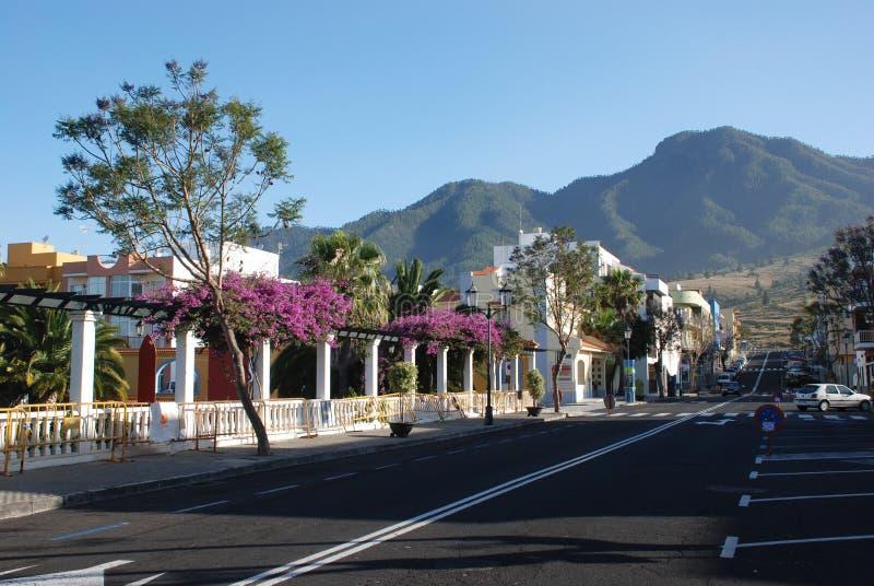 El Paso, kleine stad in La Palma, Kanarie royalty-vrije stock foto