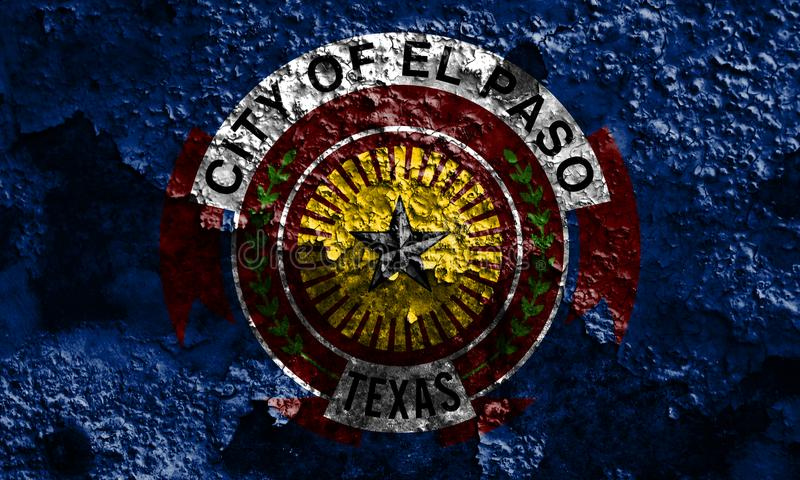 El Paso miasta dymu flaga, Teksas stan, Stany Zjednoczone Ameryka fotografia stock