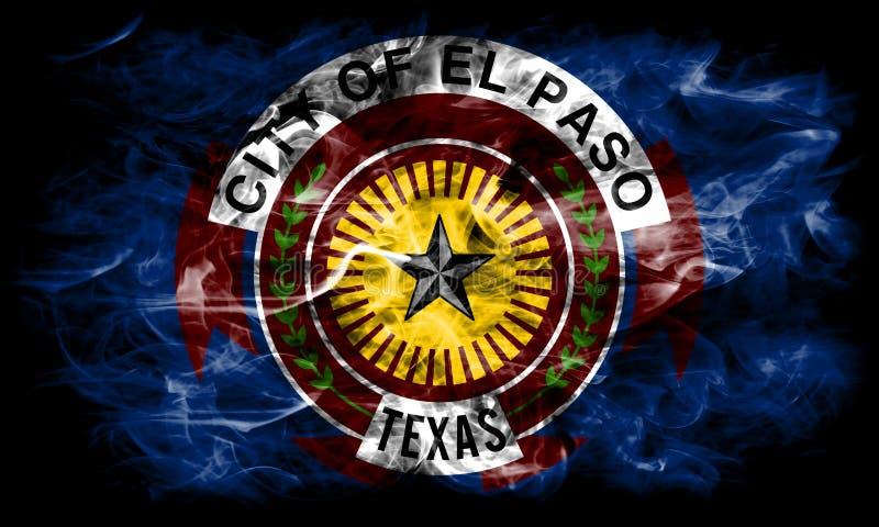 El Paso miasta dymu flaga, Teksas stan, Stany Zjednoczone Ameryka zdjęcia royalty free