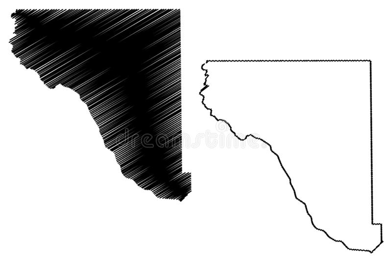 El Paso okręg administracyjny, Teksas okręgi administracyjni w Teksas, Stany Zjednoczone Ameryka, usa, U S , USA mapy wektorowa i ilustracja wektor