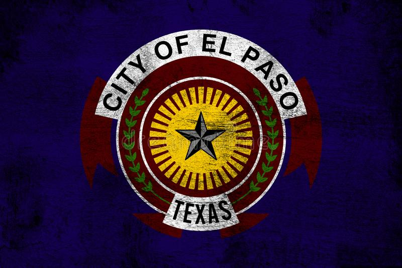 El Paso Texas. Grunge and dirty flag illustration. Perfect for background or texture purposes vector illustration