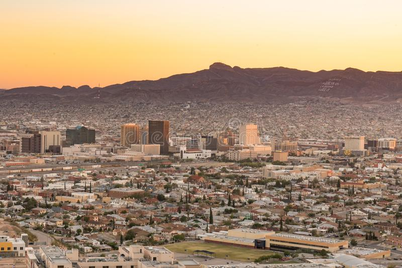 El Paso, Texas Night Skyline photo libre de droits