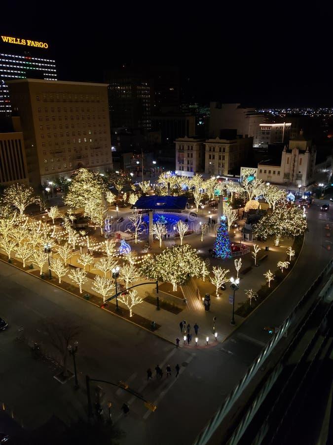 El Paso Weihnachten lizenzfreies stockfoto