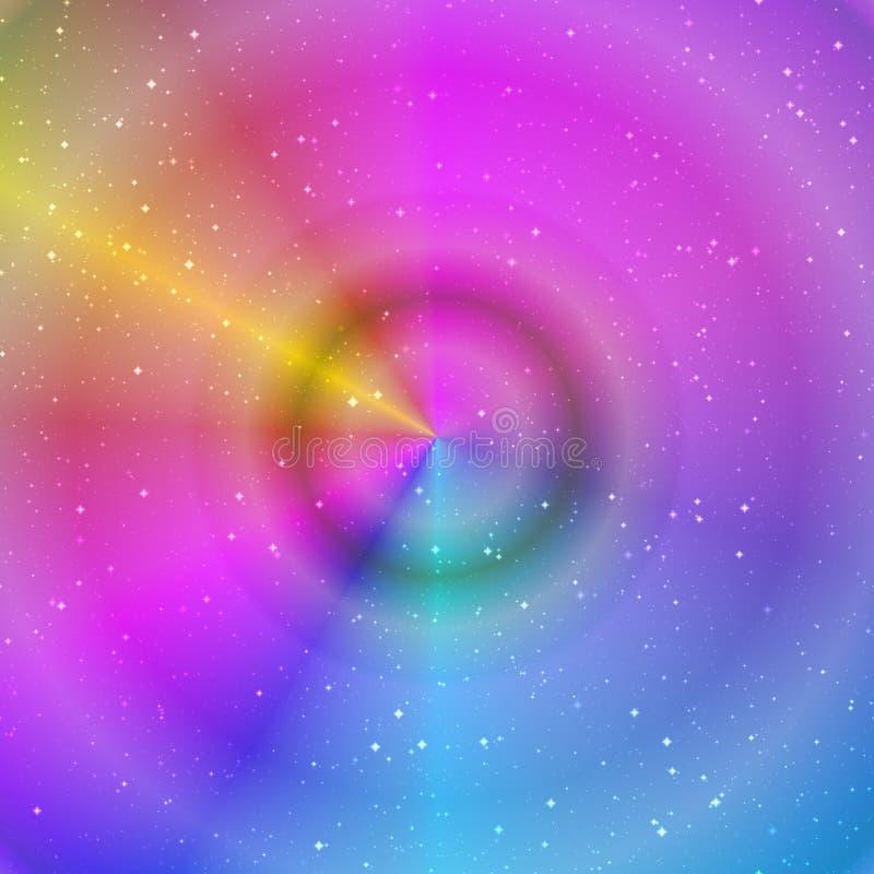 El pastel abstracto coloreó el fondo con las estrellas en azul, rosado y amarillo ilustración del vector