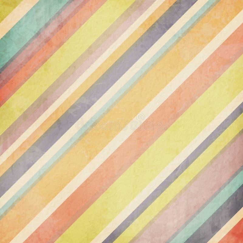 El pastel colorido raya el fondo ilustración del vector