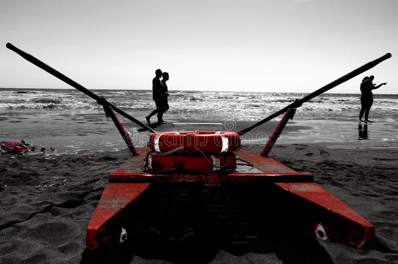 El patín del rescate en la playa fotografía de archivo libre de regalías