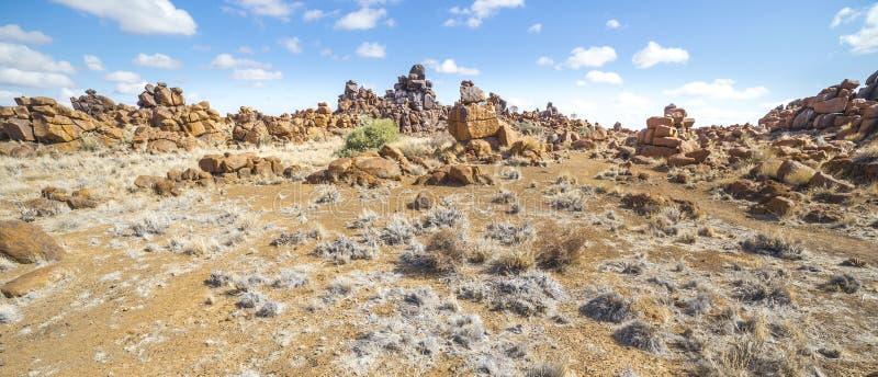 El patio de Giant's, cerca de Keetmashoop, Namibia fotografía de archivo libre de regalías