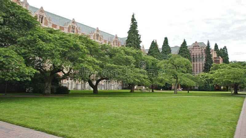 El patio en la universidad de Washington foto de archivo libre de regalías