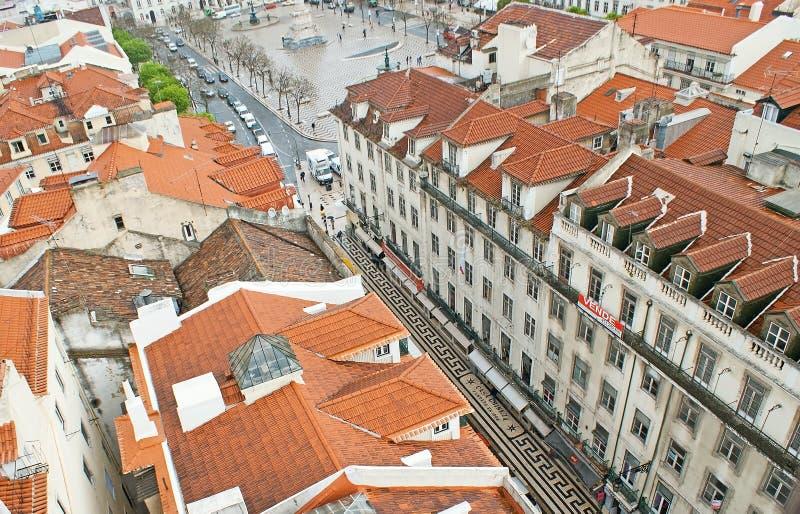 El pavimento portugués en Lisboa imagen de archivo