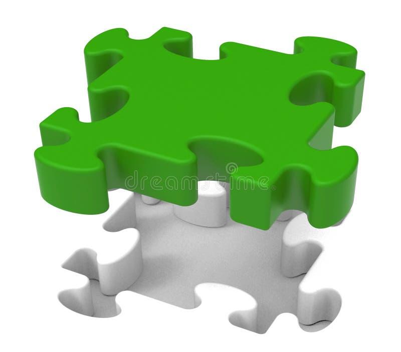 El pedazo del rompecabezas muestra problema individual del objeto libre illustration