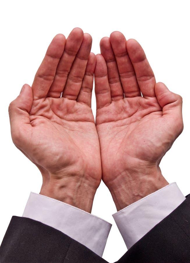 El pedir de las manos foto de archivo libre de regalías