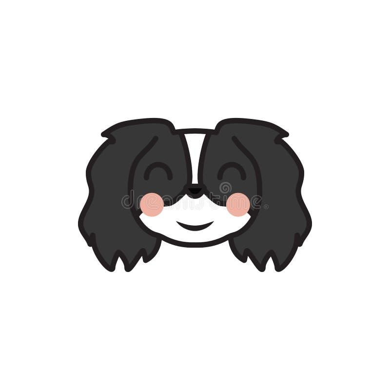 El pekinés, emoji, se ruboriza icono multicolor Las muestras y el icono de los símbolos se pueden utilizar para la web, logotipo, libre illustration