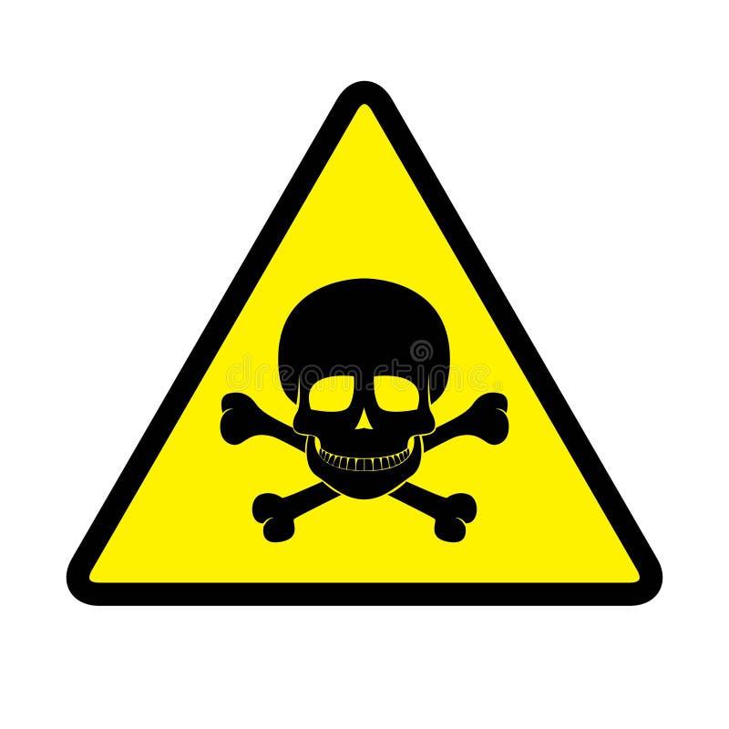 El peligro firma adentro el dibujo amarillo del fondo por el ejemplo libre illustration