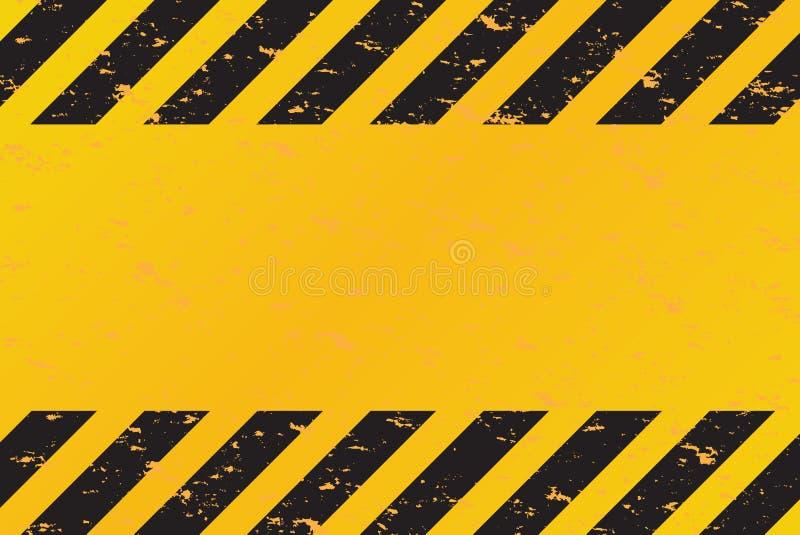 El peligro raya vector stock de ilustración