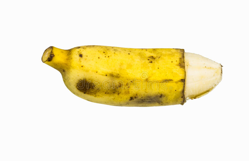 El pene le gusta el plátano maduro fotos de archivo libres de regalías