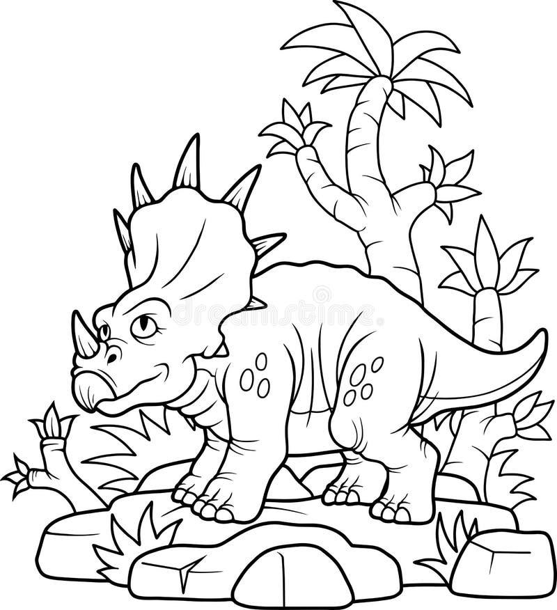 El pequeño caminar del dinosaurio ilustración del vector