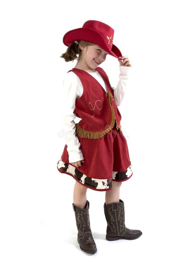 El pequeño cowgirl más lindo imágenes de archivo libres de regalías