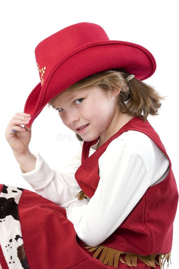 El pequeño cowgirl más lindo foto de archivo
