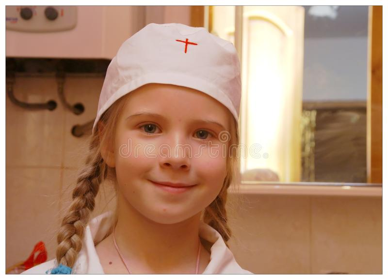 El pequeño doctor foto de archivo