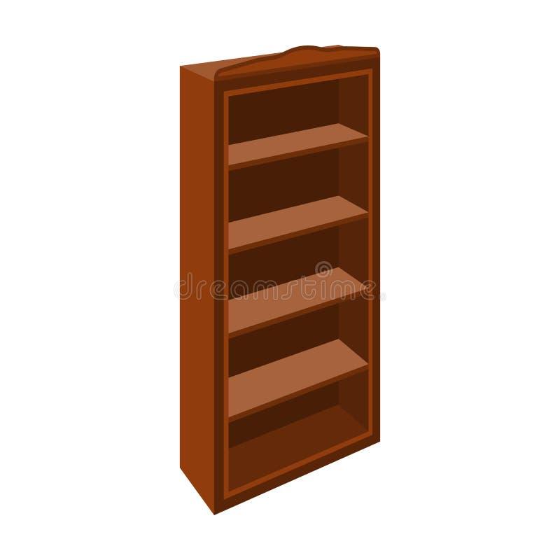 El pequeño estante para libros Biblioteca casera Libros a leer Icono de los muebles del dormitorio solo en la acción del símbolo  ilustración del vector