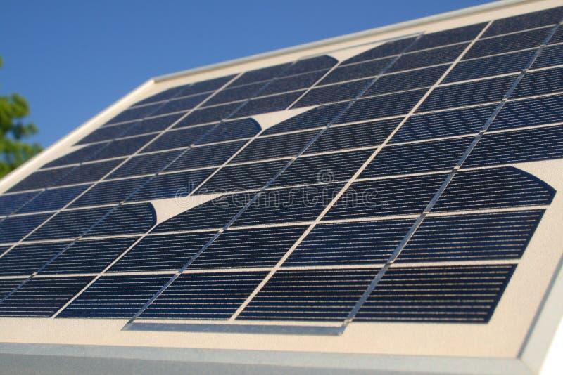 El pequeño panel solar fotografía de archivo