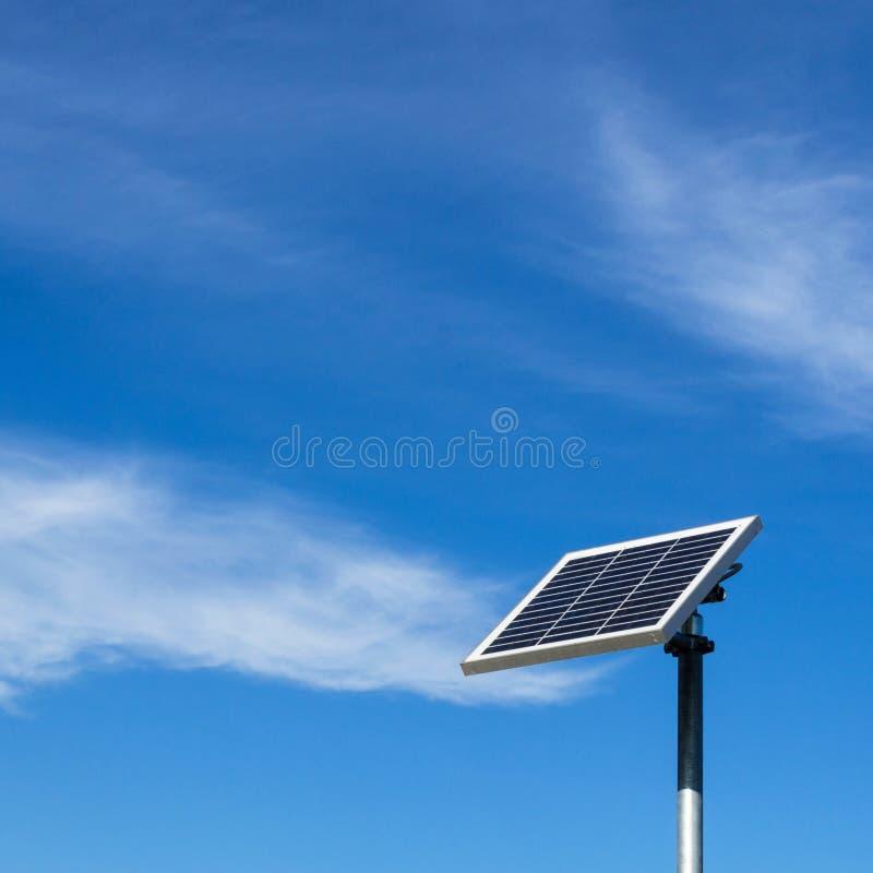 El pequeño panel solar fotos de archivo libres de regalías