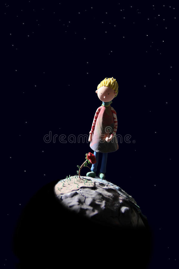 El pequeño príncipe y el suyo subieron libre illustration