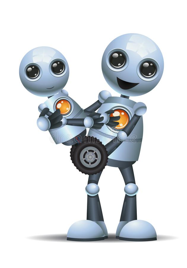 El pequeño robot lleva el pequeño robot del bebé libre illustration