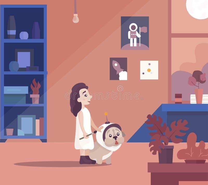 El pequeño soñar de la muchacha libre illustration