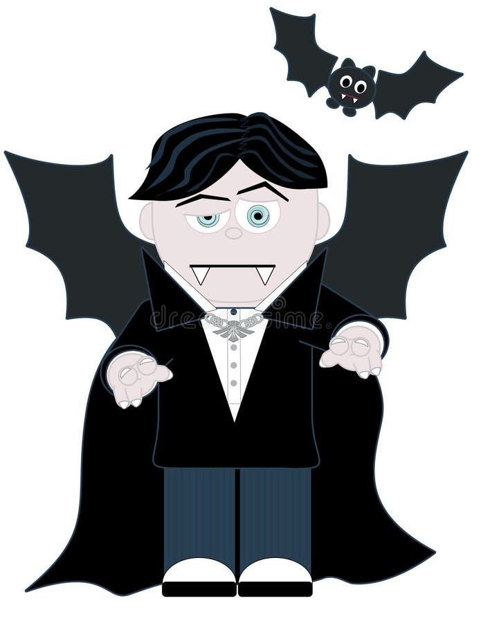 El pequeño vampiro ilustración del vector