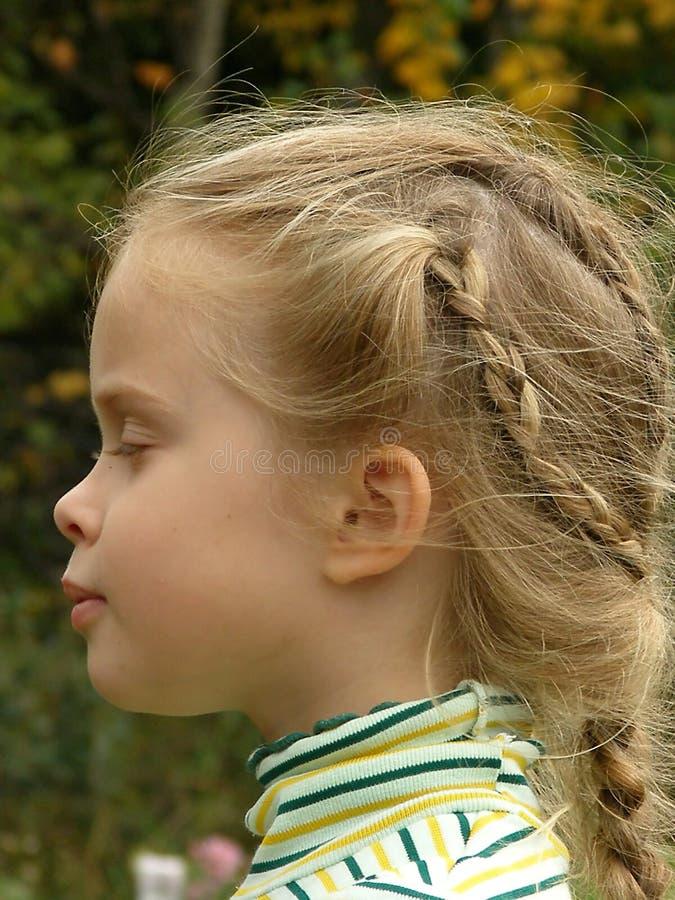 El perfil de los childâs fotos de archivo libres de regalías