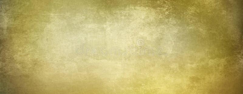 El pergamino descolorado viejo de la bandera en sepia beige marrón entona stock de ilustración